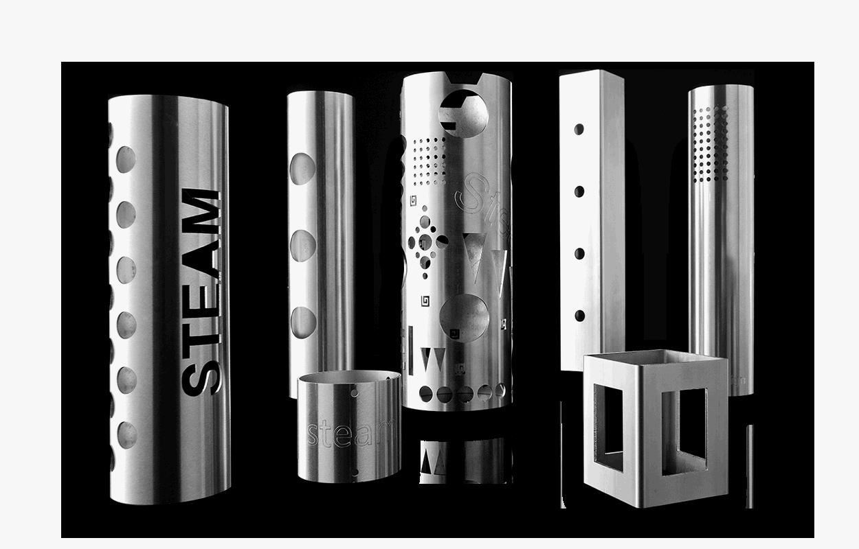 Taglio laser 2D di tubi in acciaio
